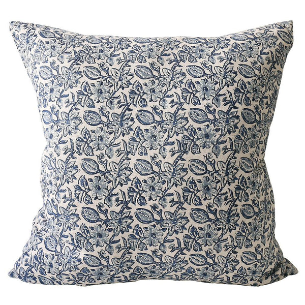 Shop Krabi Azure Linen Cushion -55 x 55cm at Rose St Trading Co