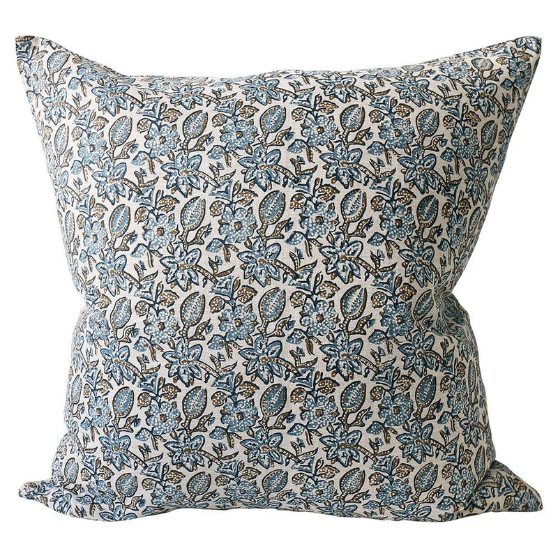 Shop Krabi Tobacco Linen Cushion -55 x 55cm at Rose St Trading Co