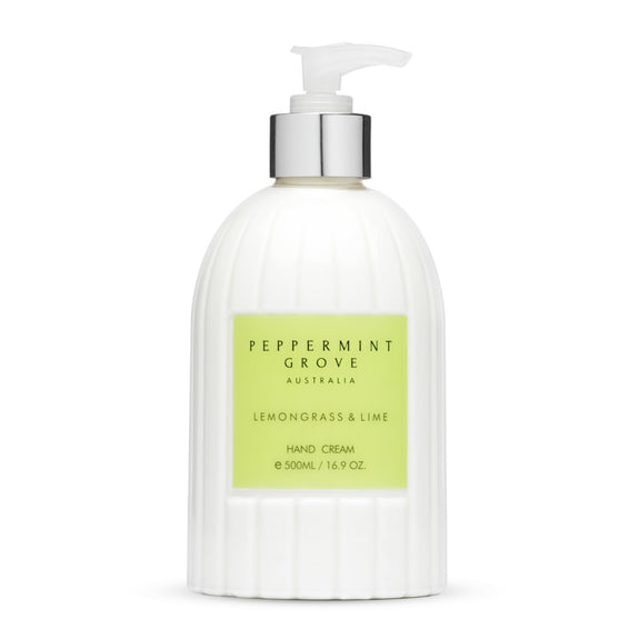 Shop Lemongrass + Lime | Hand Cream Pump at Rose St Trading Co