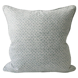 Shop Moro Celadon Linen Cushion -55 x 55cm at Rose St Trading Co