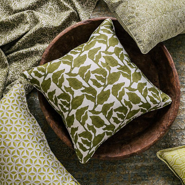 Shop Flores Moss Cushion - 50x50cm at Rose St Trading Co