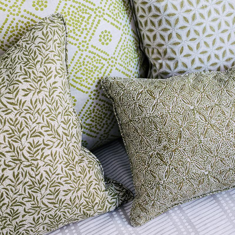 Shop Granada Moss Cushion - 50 x 50cm at Rose St Trading Co