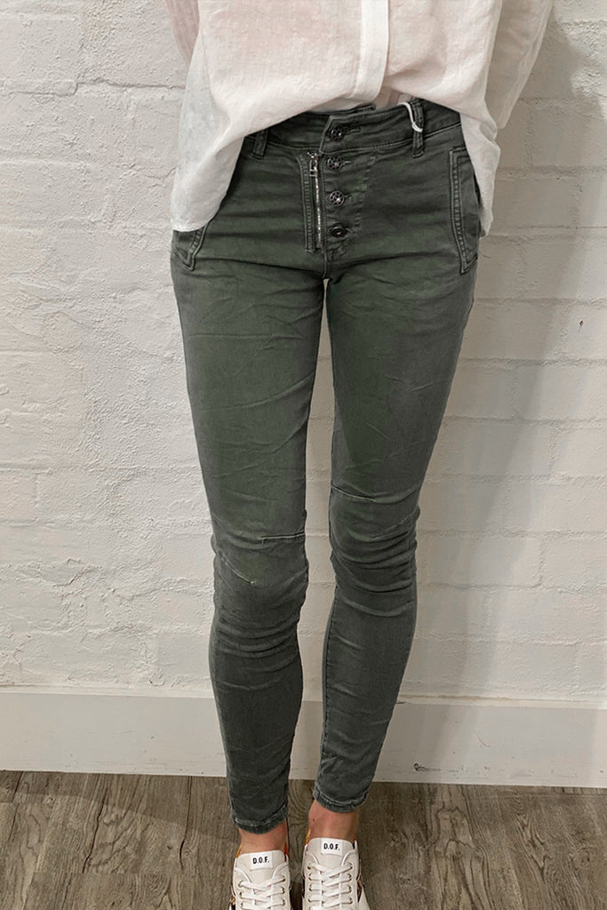 Shop Italian Jeans - Moss at Rose St Trading Co