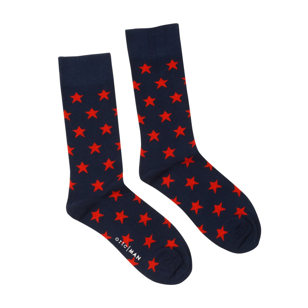 Shop Mens Socks | Red Stars at Rose St Trading Co