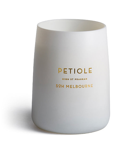 Shop SOH Petiole Candle | White Matte Vessel at Rose St Trading Co