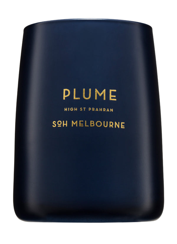 Shop SOH Plume Candle | Navy Matte Vessel at Rose St Trading Co