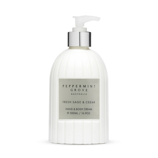 Shop Fresh Sage + Cedar | Hand Cream Pump at Rose St Trading Co
