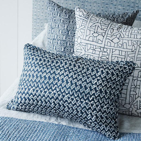 Shop Zaire Indian Teal Linen Cushion -50 x 50cm at Rose St Trading Co