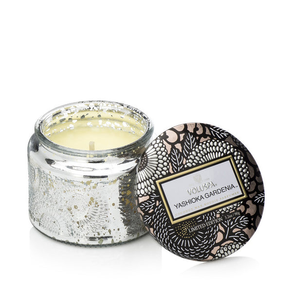 Shop Voluspa Yashioka Gardenia Petite Jar Candle at Rose St Trading Co