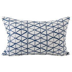 Shop Zulu Indigo Linen Cushion 35x55cm at Rose St Trading Co
