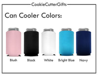 Bride and Groom Can Coolers - Honeymoon Can Coolers