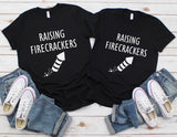 Raising Firecrackers Shirt - 4th of July Shirt for Parents