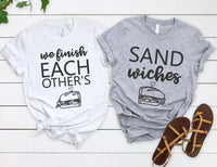 We Finish Each others Sandwiches Shirts - Disney Couples Shirts
