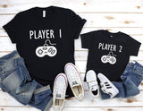 Player 1 2 3 4 Shirts - Sibling Shirts - Baby Announcement Shirt