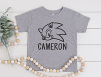 Personalized Sonic Shirt - Sonic Birthday Shirt for Kids