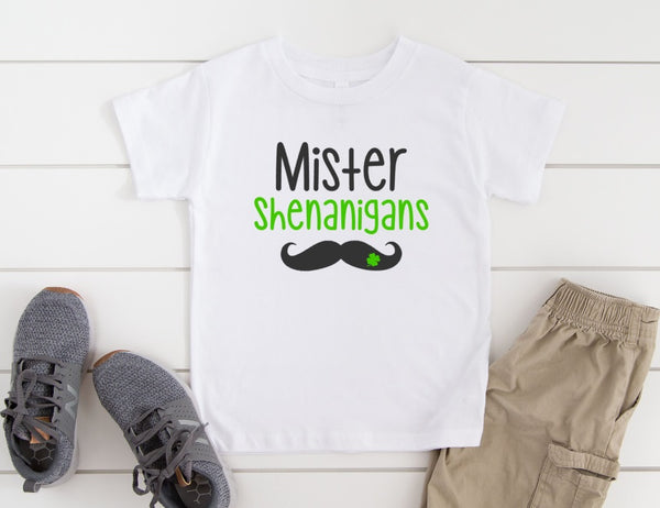 Mister Shenanigans Shirt for Kids - St. Patrick's Day Shirt for Kids