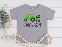 Personalized St. Patrick's Day Shirt For Kids - St Patty's Tractor Shirt