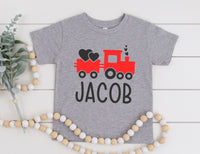 Personalized Valentine's Day Shirt For Kids - Personalized Valentine's Day Train Shirt