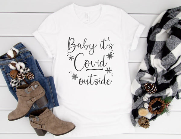 Baby It's Covid Outside Shirt - Funny Holiday Shirt 2020