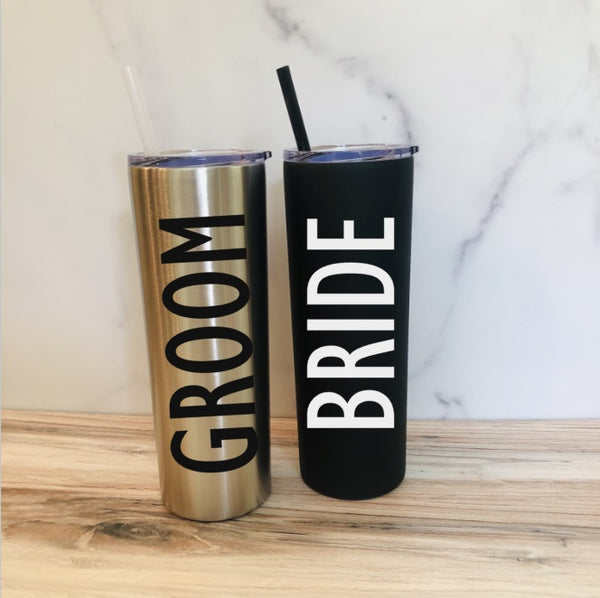 Personalized Bride and Groom Tumblers