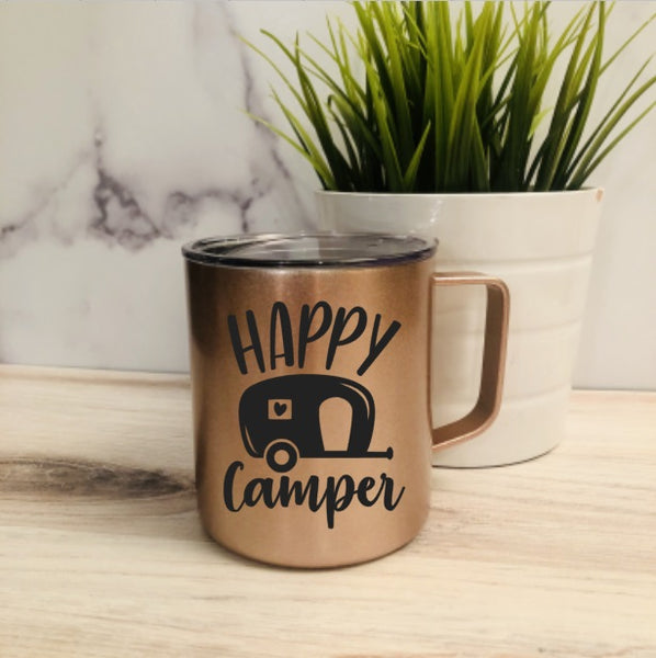 Happy Camper Stainless Steel Coffee Mug