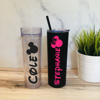 Personalized Disney Tumbler - Disney Stainless Steel Tumbler - Personalized Mickey Tumbler - Personalized Minnie Tumbler