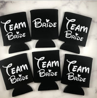 Disney Team Bride Can Coolers Set of 6 - Disney Bachelorette Party Can Coolers