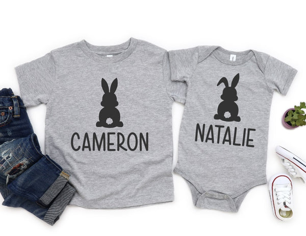 Personalized Bunny Shirt - Personalized Easter Shirt for Kids