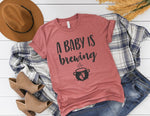 A Baby Is Brewing Shirt - Halloween Pregnancy Shirt - Halloween Pregnancy Announcement Shirt