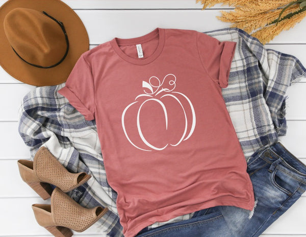 Pumpkin Shirt - Cute Fall Shirt for Women
