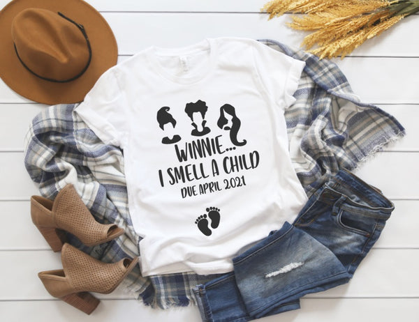 Winnie I Smell A Child Shirt - Halloween Pregnancy Announcement Shirt