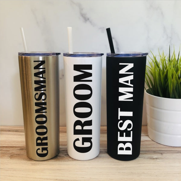 Personalized Bridal Party Tumblers - Groomsmen Tumblers