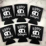 Happy Camper Can Coolers Set of 6 - Camping Can Coolers