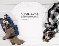 Hunt Wife Shirt - Funny Hunting Season Shirt for Women