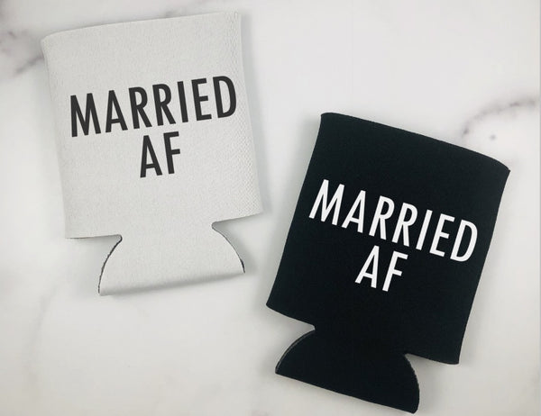 Married AF Can Coolers - Honeymoon Can Coolers