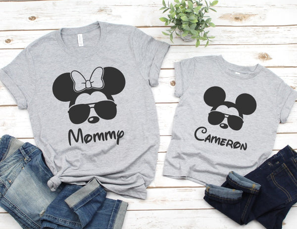 Personalized Mickey Sunglasses Shirt - Disney Family Shirts