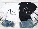 Personalized Mr and Mrs Shirts