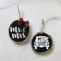 Mr & Mrs Christmas Ornament