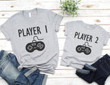 Player 1 2 3 4 Shirts - ADULT SIZES