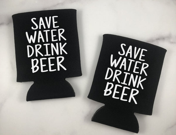 Save Water Drink Beer Can Coolers Set of 6 - Vacation Can Coolers
