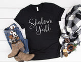 Shalom Y'all Shirt - Cute Holiday Shirt for Women - Funny Hanukkah Shirt - Shalom Yall Tee