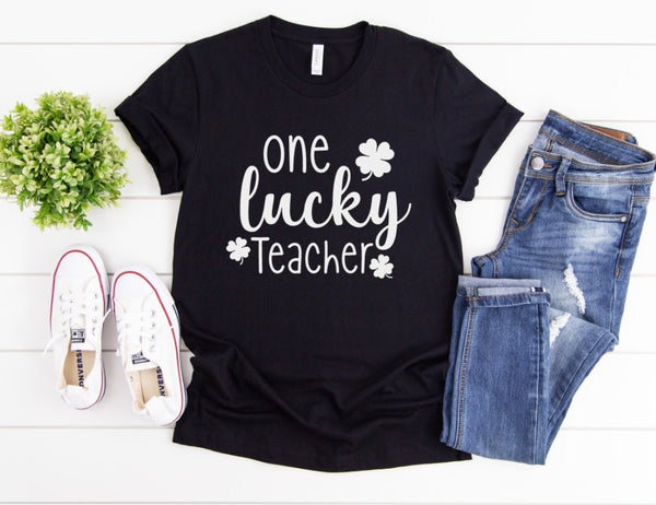 One Lucky Teacher Shirt