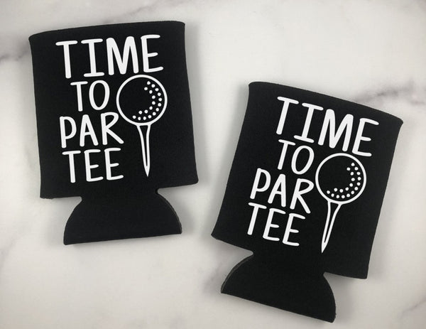 Time To Par Tee Can Coolers Set of 6 - Golf Can Coolers
