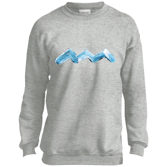 ABSTRACT WAVE Youth Crewneck Sweatshirt