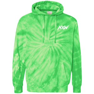 White Font Tie-Dyed Hoodie