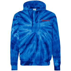 Red Backhand NXW Tie-Dyed  Hoodie