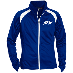 White Font Ladies' Warmup Jacket