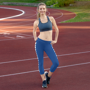 Blue NXW Capri Leggings