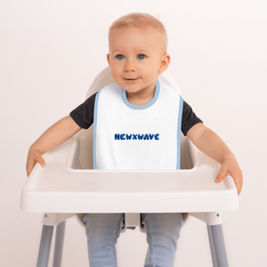 Blue Bubble NEWXWAVE  Embroidered Bib