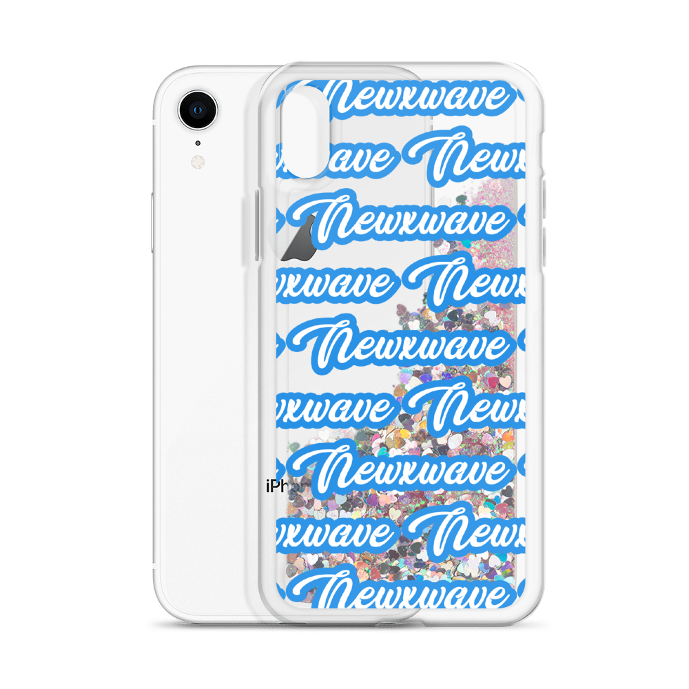Blue Backhand NXW Liquid Glitter iPhone Case